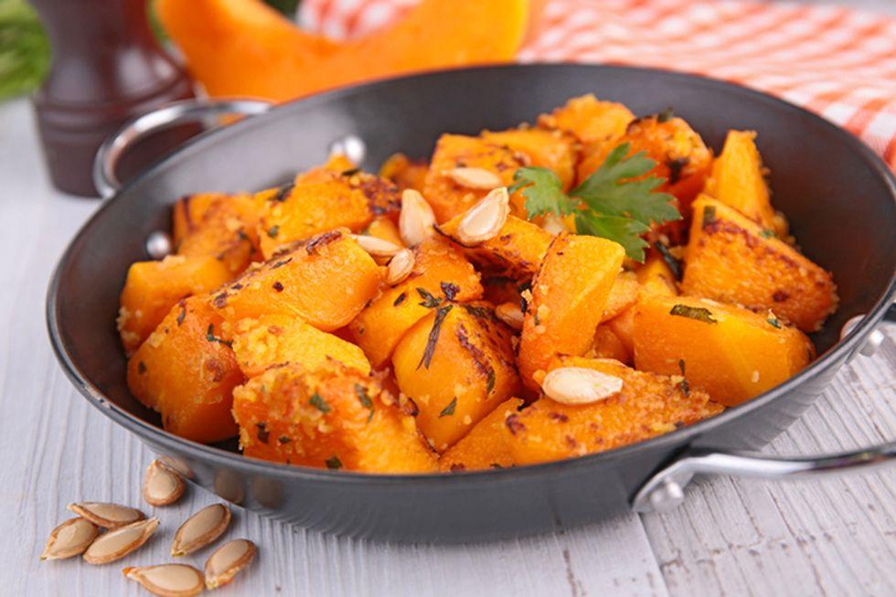 Grilled Pumpkin With Radish-Frisée Salad