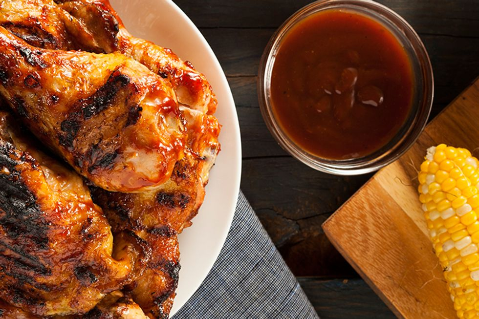 Parchment-Baked Barbecue Chicken
