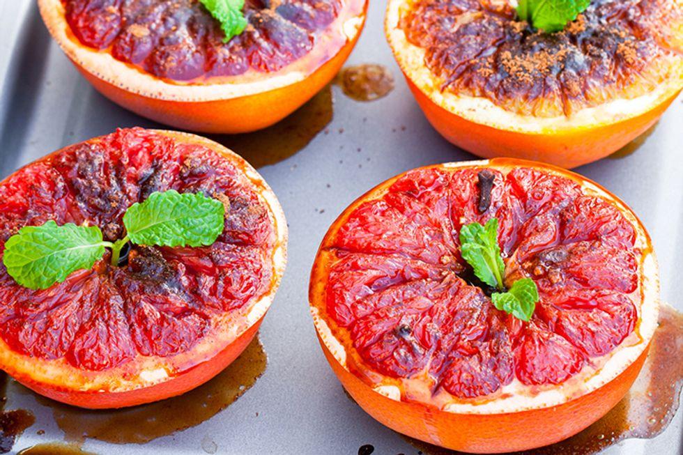 Grilled Grapefruit Breakfast Sandwiches