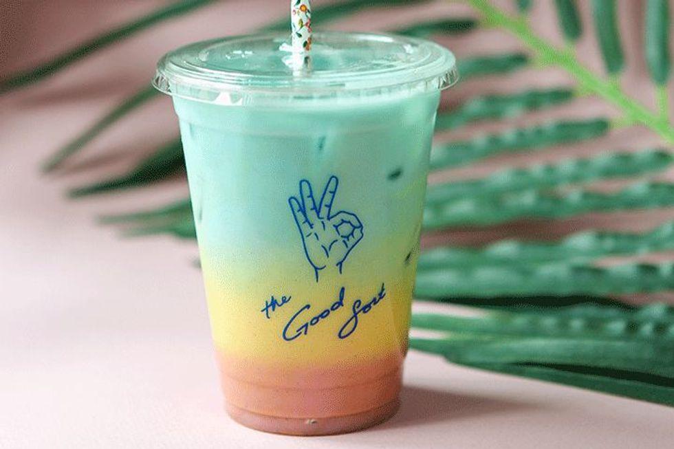 Iced Rainbow Latte