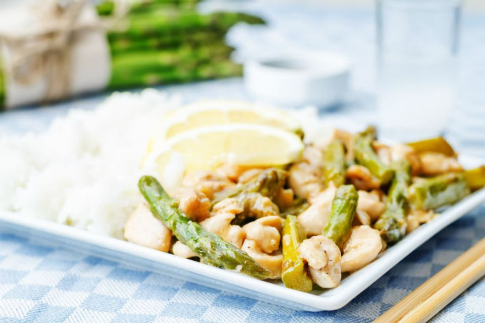 5-Minute Stir-Fry Pork and Asparagus