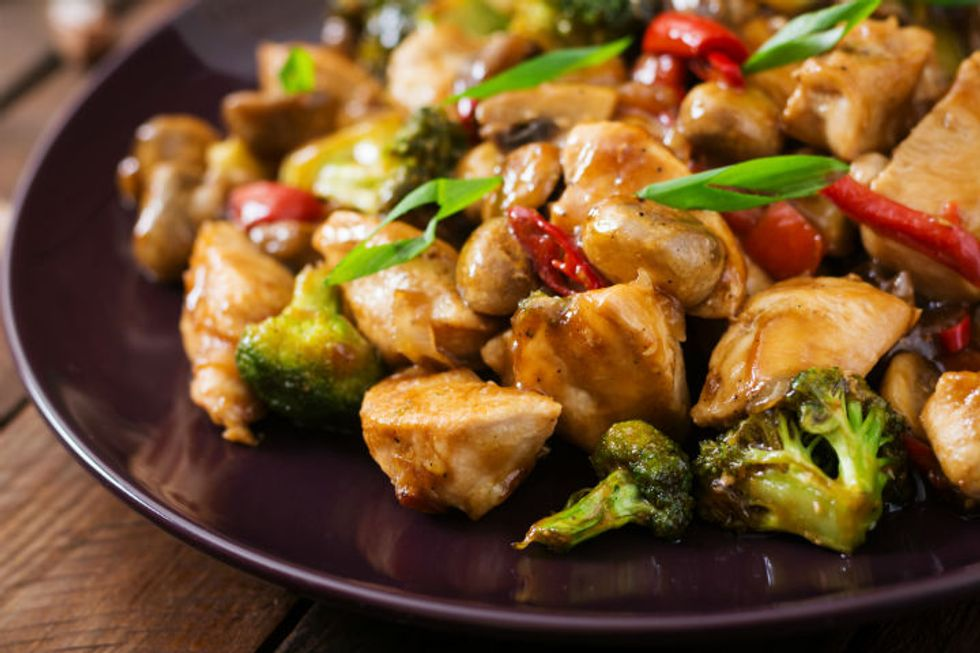 5-Minute Stir-Fry Chicken and Broccoli