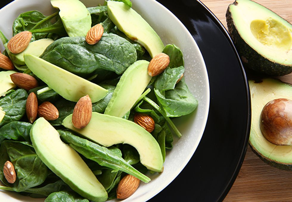 Chicken, Avocado, and Asparagus Salad With Almonds