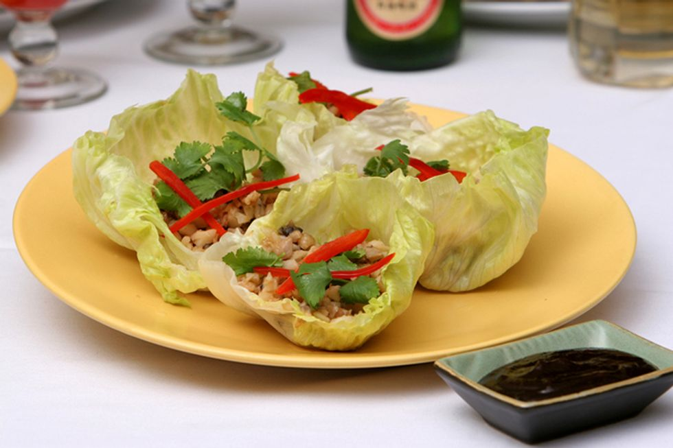 Lettuce Cups With Thai-Flavored Turkey and Wild Rice