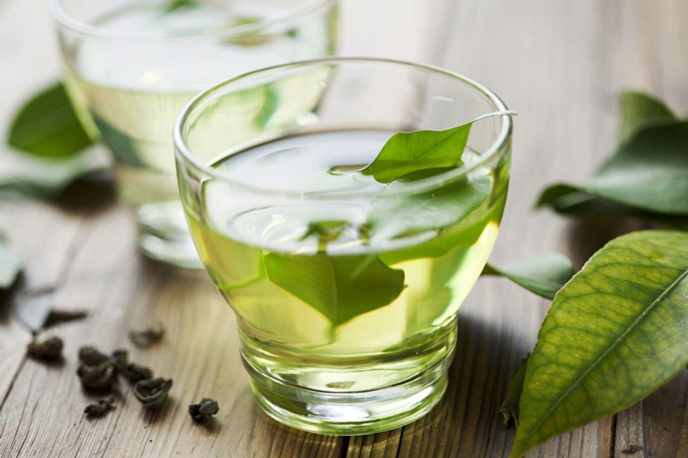 Parsley-Infused Green Tea