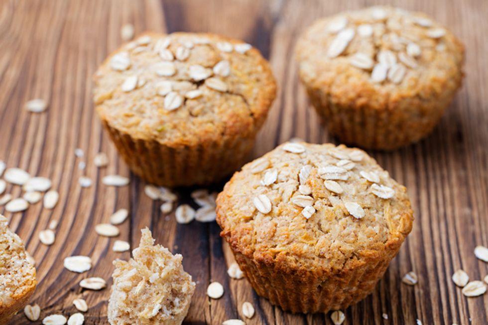 Post Shredded Wheat Banana-Raisin Wheat Muffins