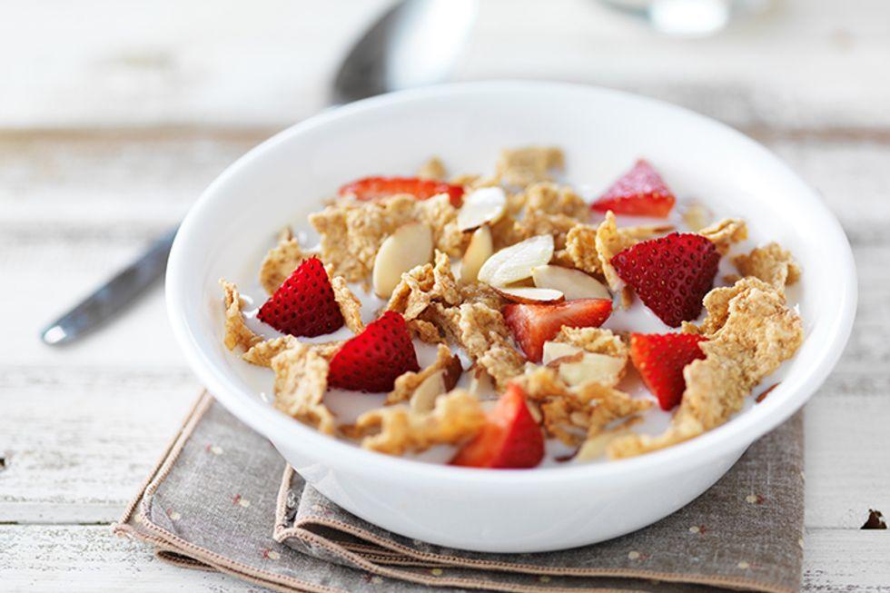 Strawberry Microwave Breakfast Bowl