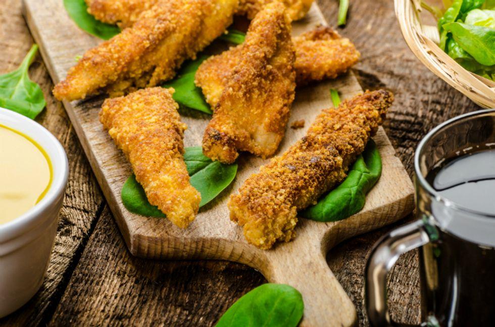 Crunchy Buttermilk Chicken Fingers