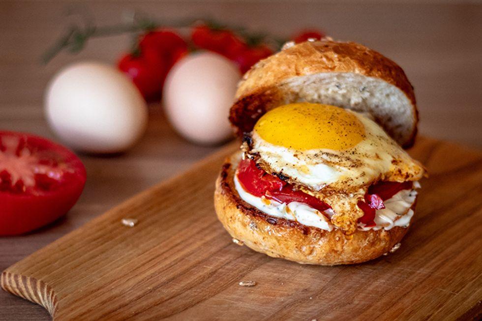 Hungry Girl's Egg Scramble & Bun