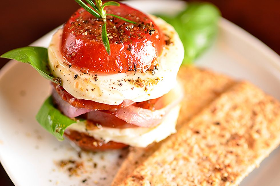 Caprese Salad Stacks with Balsamic Reduction