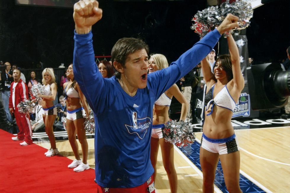 Dr. Oz in the NBA All-Star Celebrity Game