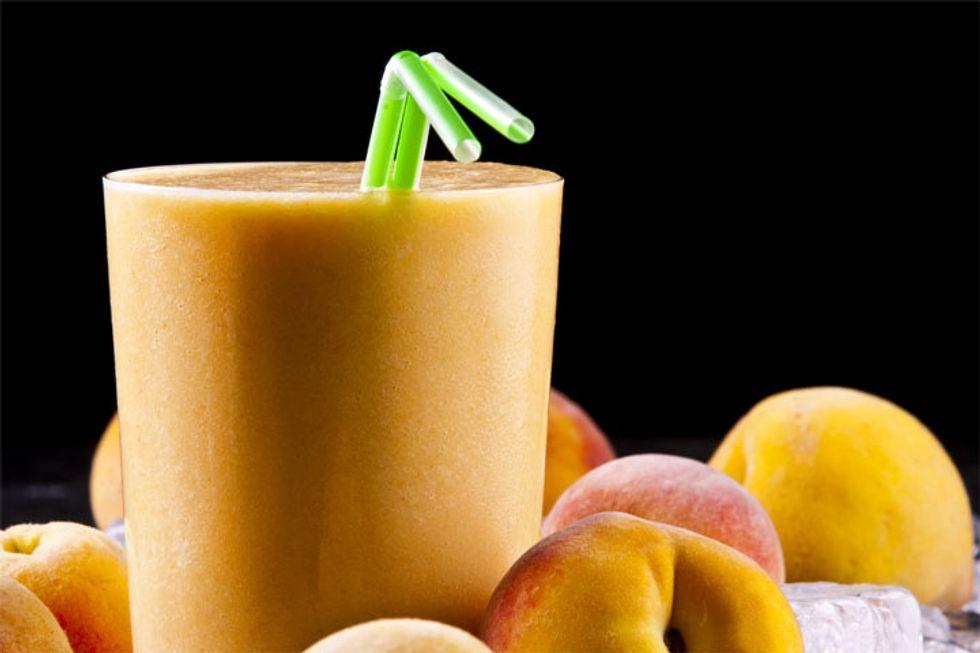Sparkling Peach Protein Smoothie