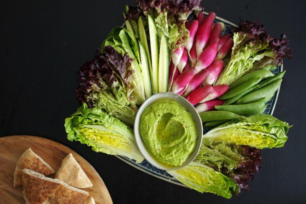 Lauren Conrad's Green Hummus