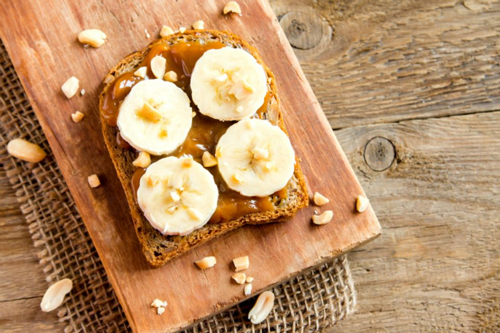 Peanut Butter and Banana Toast