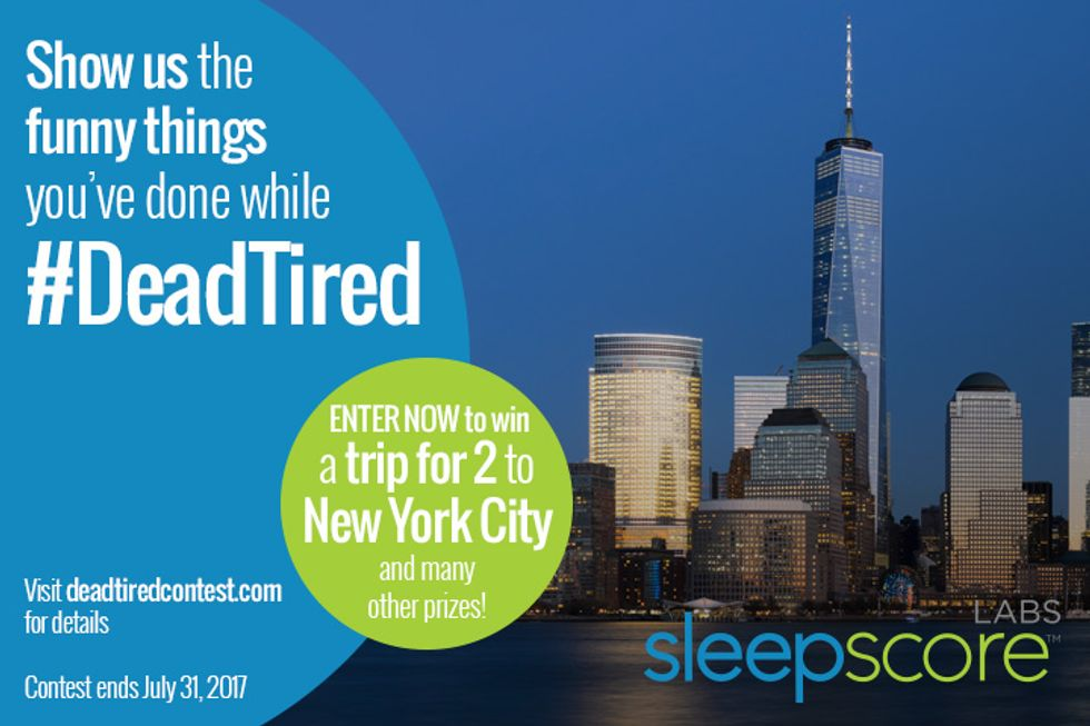 Win a Trip to NYC! Enter the SleepScore Labs #DeadTired Contest
