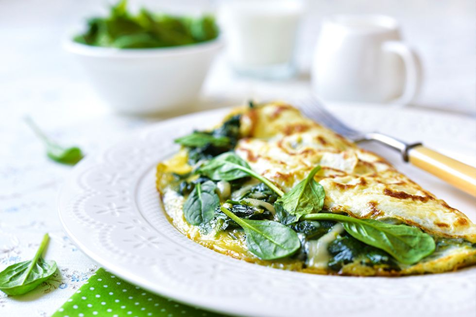 Thai-Style Chickpea Spinach Omelette