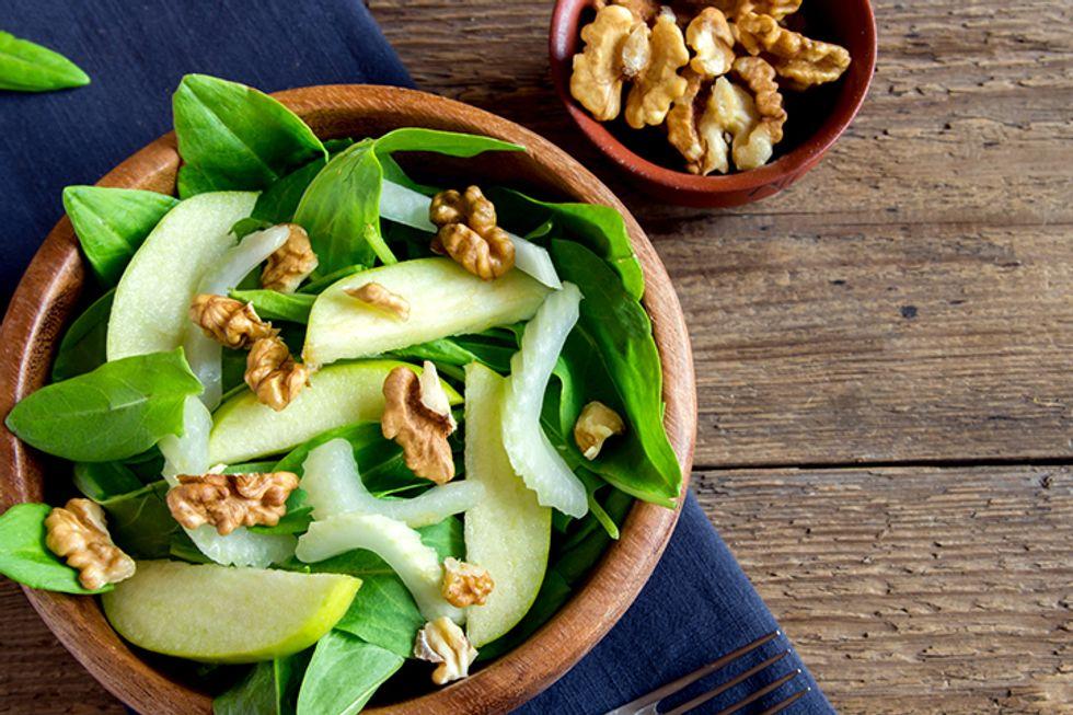 J.J. Smith's Apple Walnut Spinach Salad
