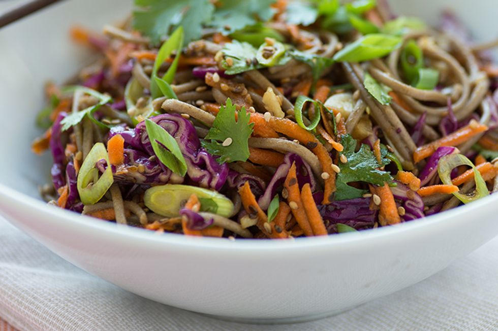Candice Kumai's Avocado Soba Bowl With Red Miso-Ginger Dressing
