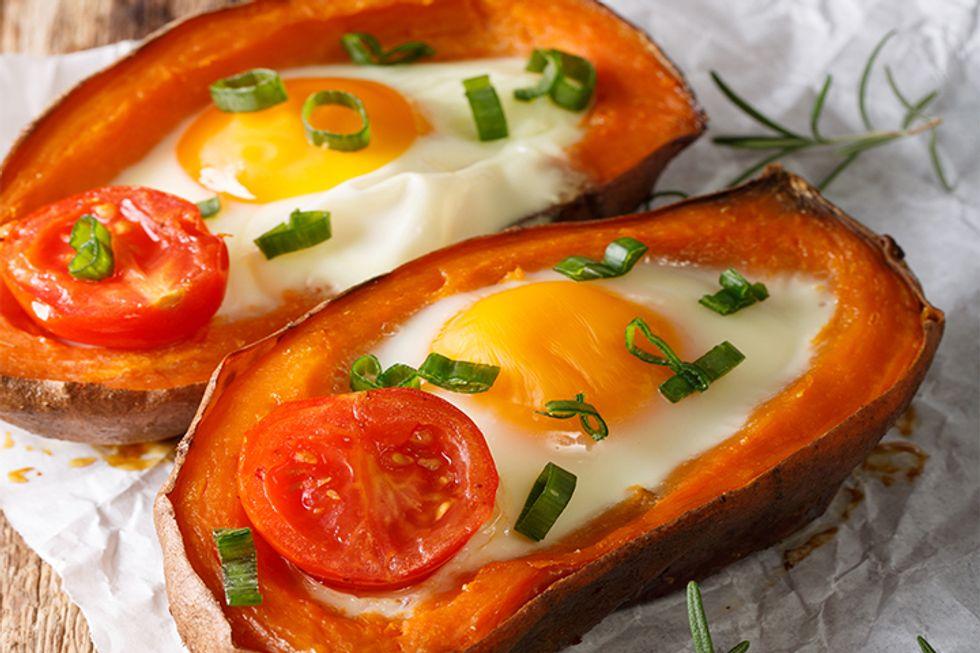 Sweet Potato Egg-in-a-Hole