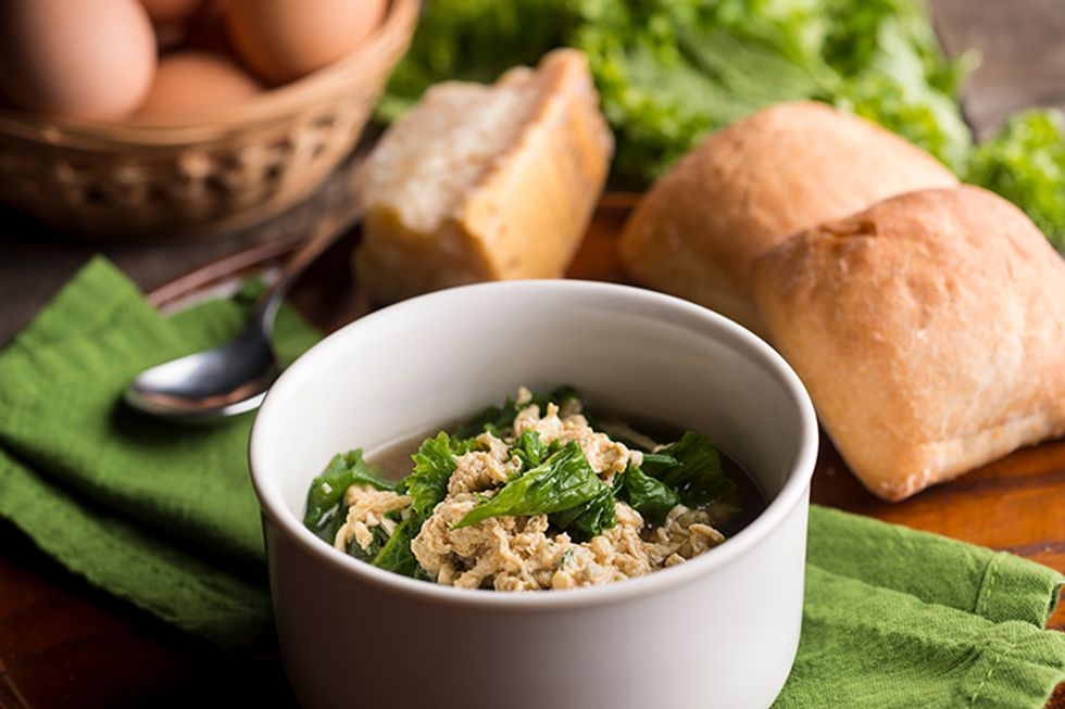 Chef Roblé Ali's 3-Minute Stracciatella Soup