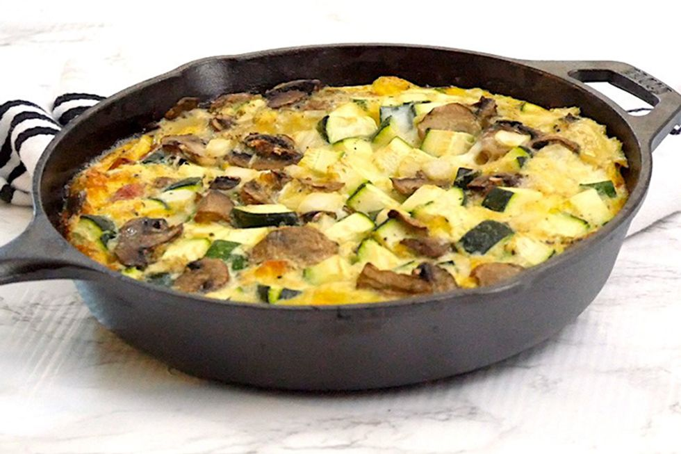 """Quiche With Bacon """"Crust"""""""