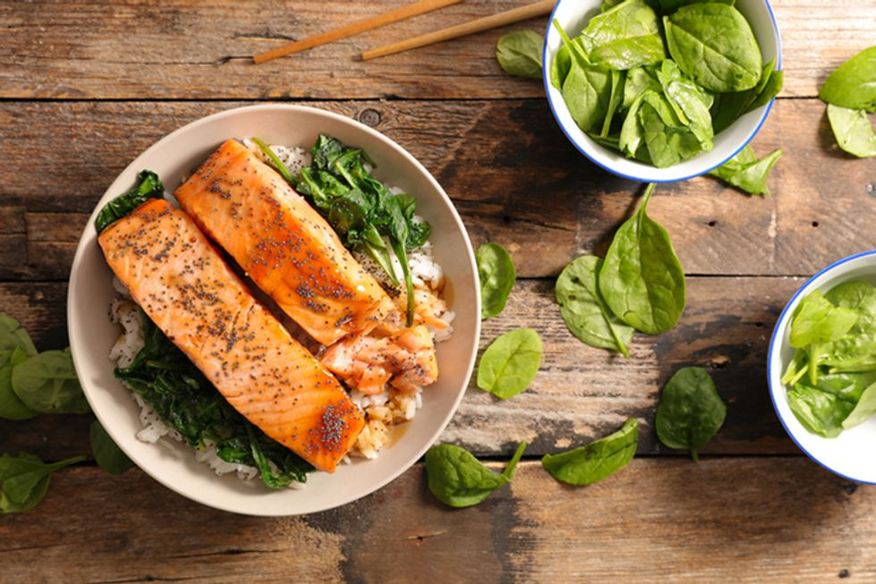 JJ Virgin's Asian Salmon With Veggie Stir Fry