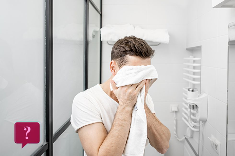 Washing Your Face With a Dirty Towel Is Worse Than Sticking Your Head In the Toilet
