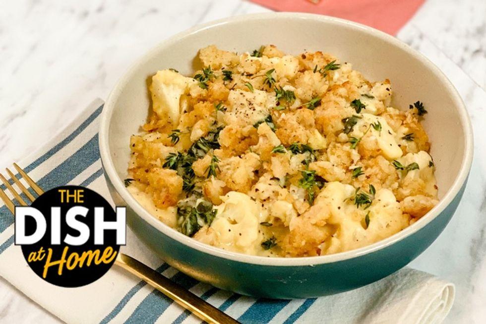 Daphne Oz's Cheesy Kale and Cauliflower Bake