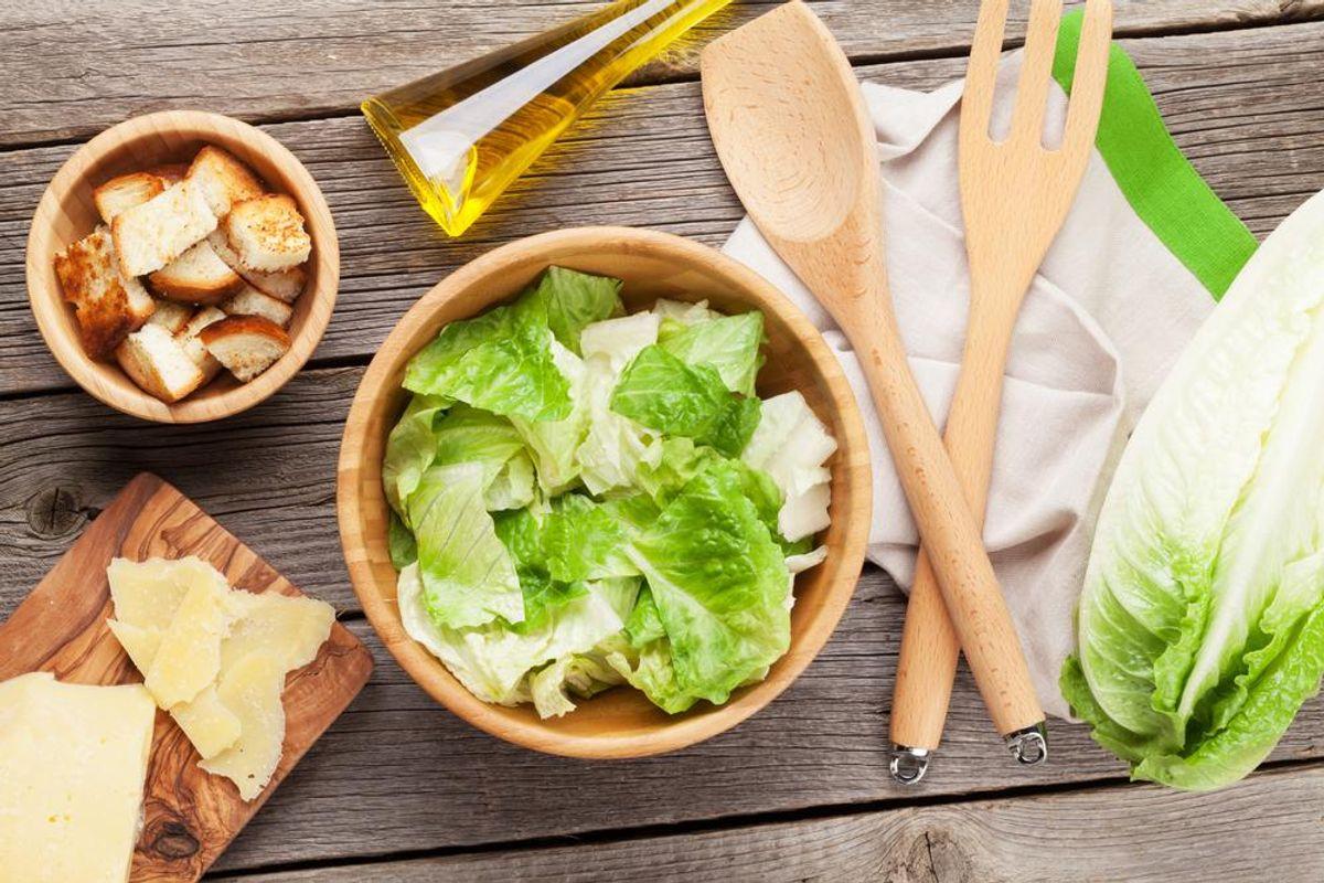 Grilled-Lettuce Caesar Salad