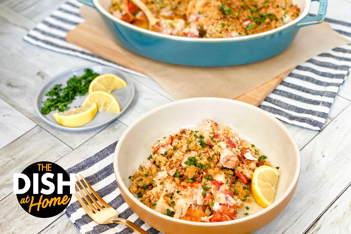 Lazy Lobster Pie With Panko Bread Crumbs