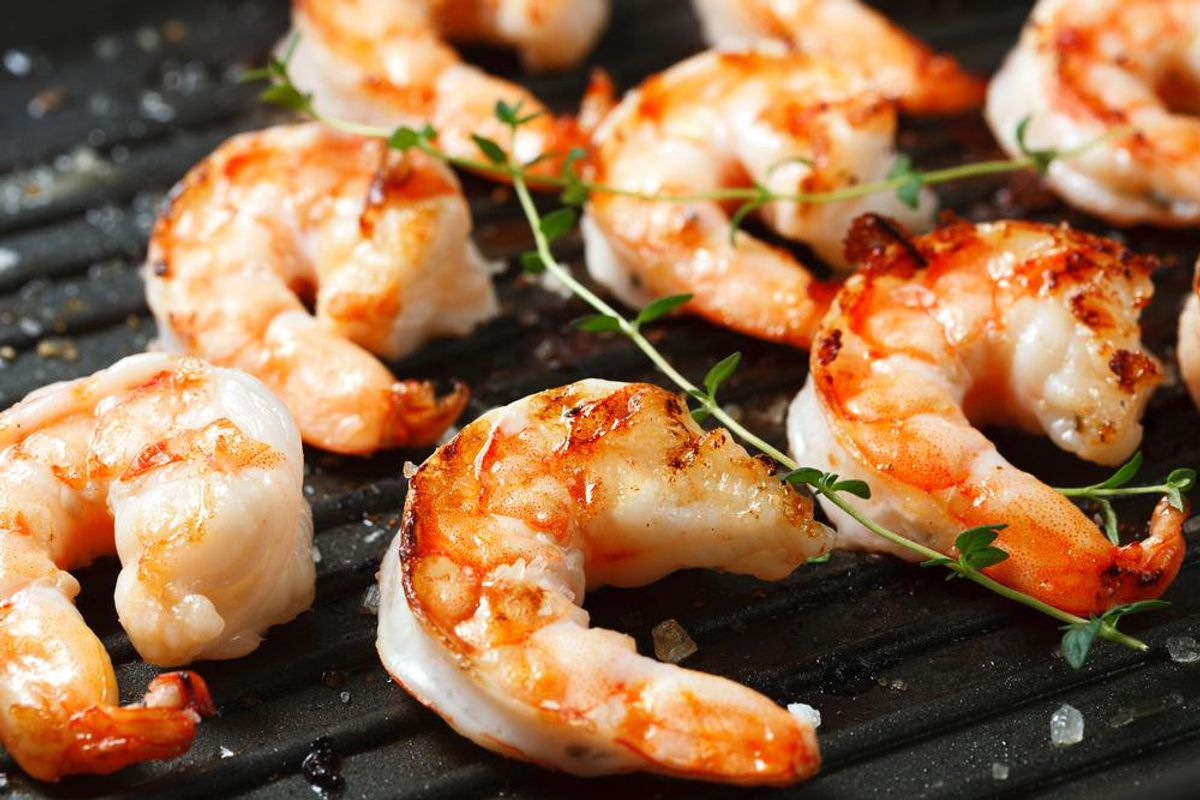Lightened-Up Shrimp & Grits on the Grill