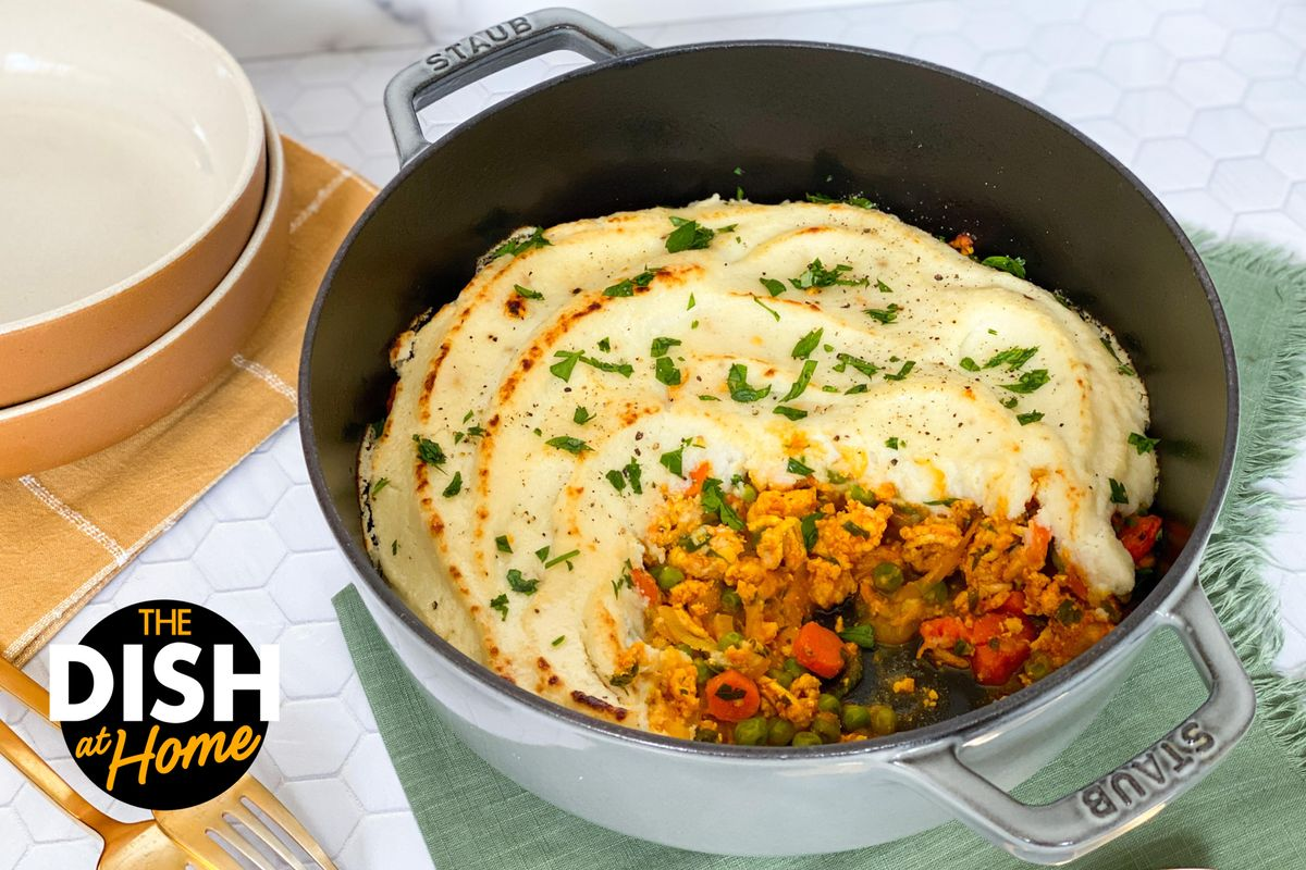 Healthier Shepherd's Pie With Mashed Cauliflower Topping