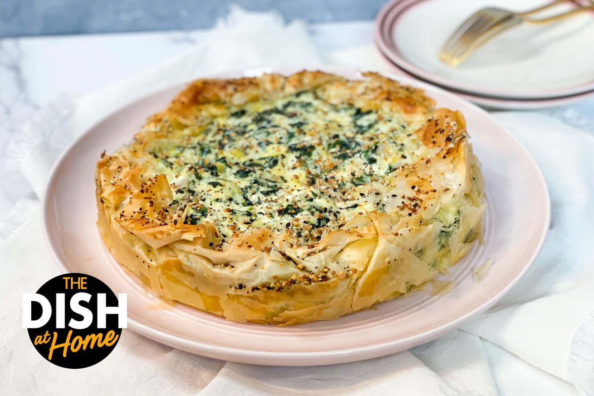 Freezer Section Spinach & Artichoke Phyllo Pie