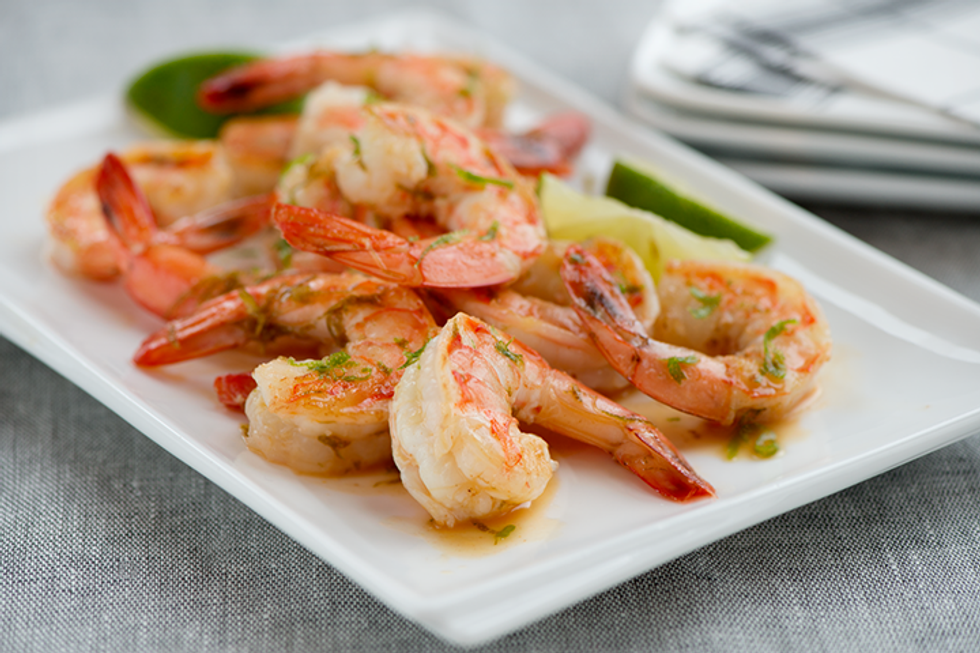 Butterfly Shrimp with Mash