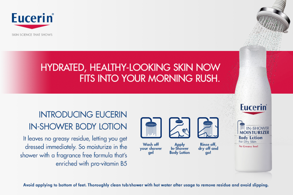 Enter to Win: Eucerin In-Shower Moisturizer Giveaway
