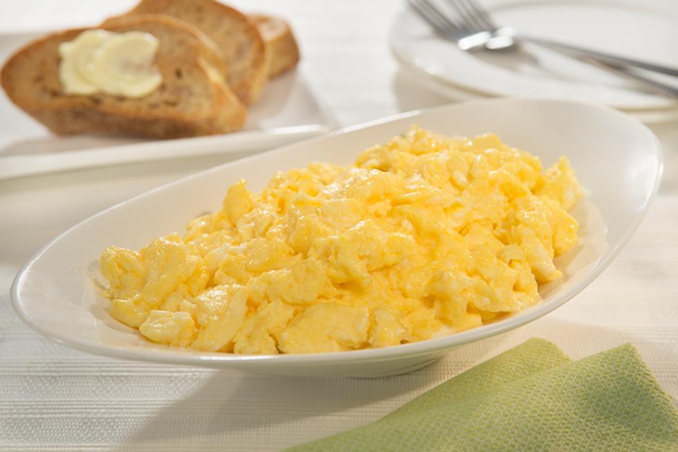 """Cheesy"" Scrambled Eggs"