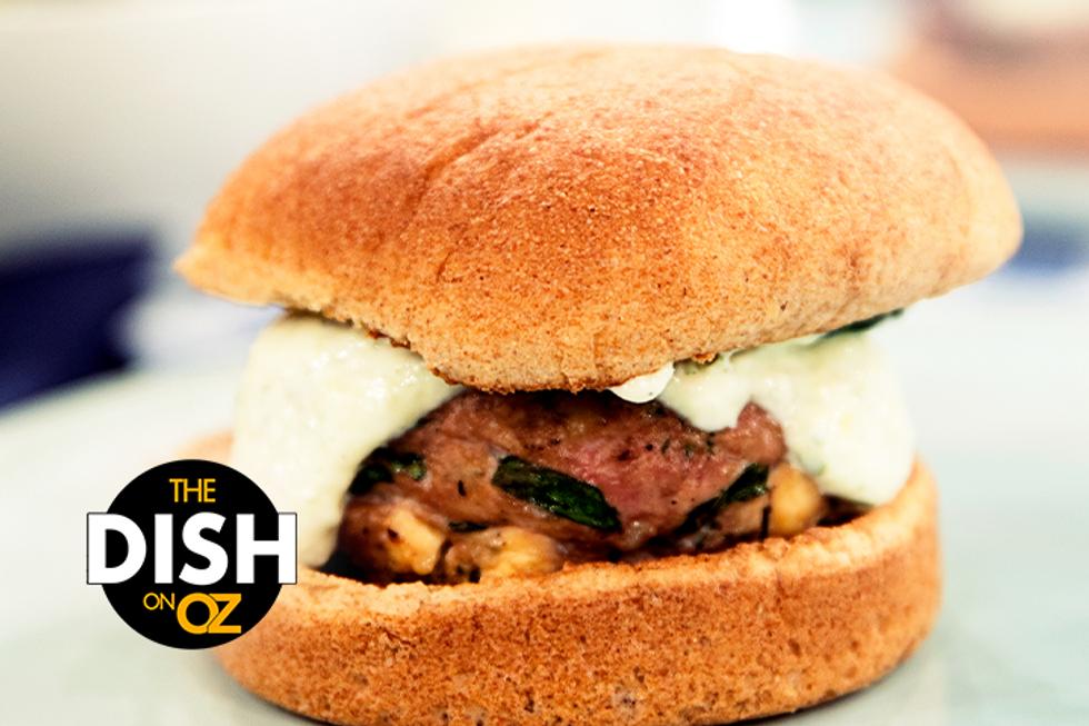 Maria Menounos' Mykonos Burger With Tzatziki Sauce