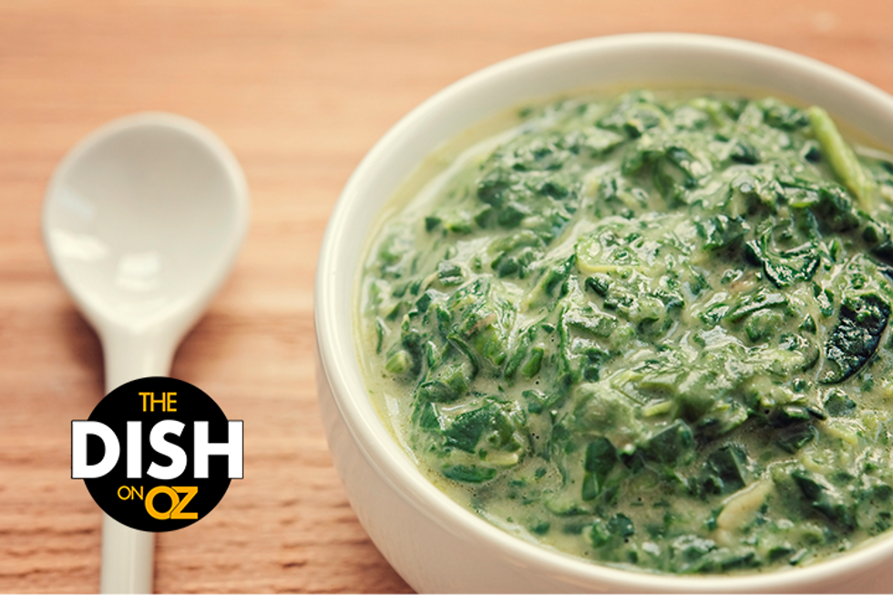 The Dish's Creamed Spinach with Herbed Breadcrumbs