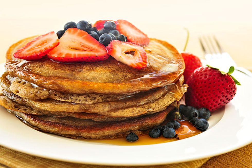 strawberry-blueberry-pancakes